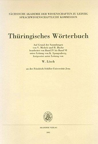 Thüringisches Wörterbuch: II. Band, 6. Lieferung (Ginghamsrock – Haar¹)