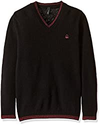 United Colors of Benetton Boys Sweater (16A1032C4047G100XL_Black_XL)