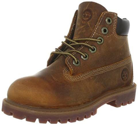 Timberland Authentics FTK 6 In WP Boot C80804, Jungen Schnürboots, Braun (Brown Smooth), 24 EU / 7