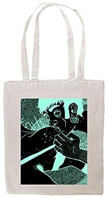 Tshirtmadness Drawn Space Guy Kissing Boobs Tote Bag