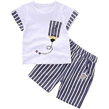 Conjuntos de ropa, Dragon868 2018 niños recién nacidos de verano bebé rayado lápiz camiseta y