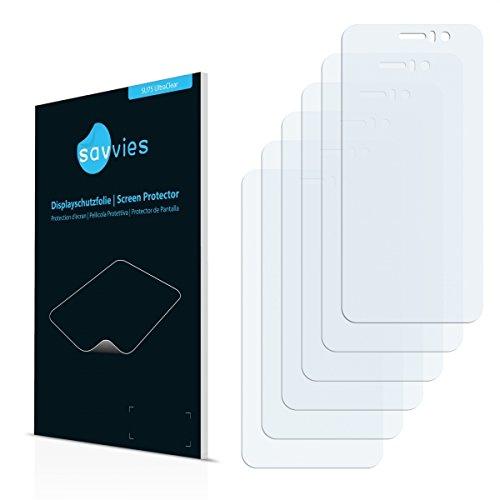6x Savvies SU75 UltraClear Bildschirmschutz Schutzfolie für Jiayu G5 Basic (ultraklar, mühelosanzubringen)
