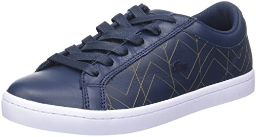 Lacoste Damen Straightset Lace 417 1 Caw Sneakers, Blau (Nvy), 39 EU