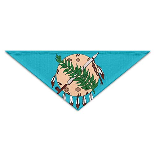 Gxdchfj USA Oklahoma Flag Triangle Pet Scarf Dog Bandana Pet Collars Dog Cat - Birthday (Cat In The Hut Kostüm Kinder)