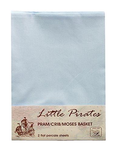 Little Pirates Lot de 2 draps pour berceau/landau 100% coton