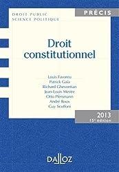 Droit constitutionnel 2013 - 15e éd.: Édition 2013