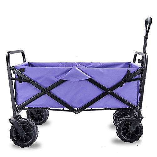lquide Vagone Pieghevole Pieghevole Carrello Vagone Utility Giardino Camping Wagon Vagone Sportivo per Esterno/Festival/Campeggio, 90 kg / 198Peresa, D: Vio