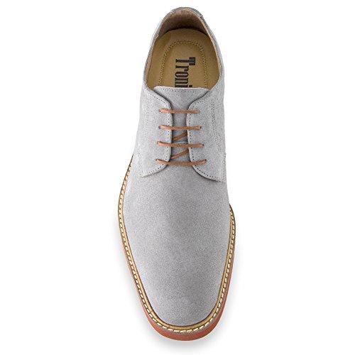 Masaltos - Chaussures rehaussantes pour homme. Jusqu'à 7 cm plus grand! Modèle Corby A Gris