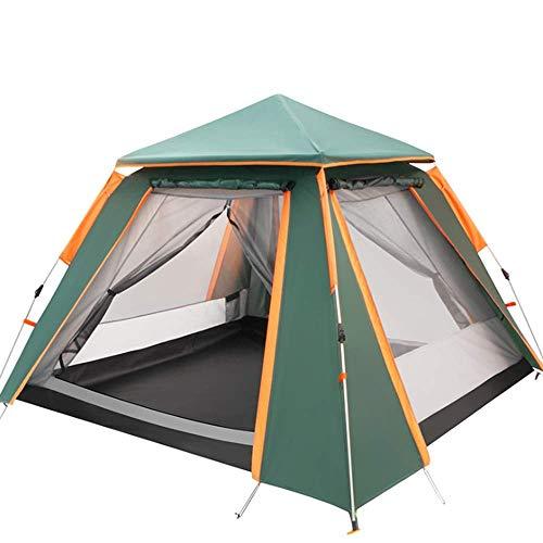 MCLJR 5-8 Personen Aufstellzelt für Campingrucksackzelte Instant Family Einfache Einrichtung Regensicheres vierseitiges Doppelschicht-Automatik - Arm Freistehende Monitor