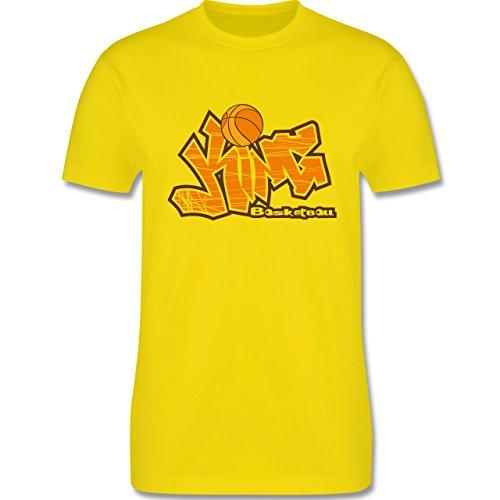 Basketball - Basketball King - Herren Premium T-Shirt Lemon Gelb