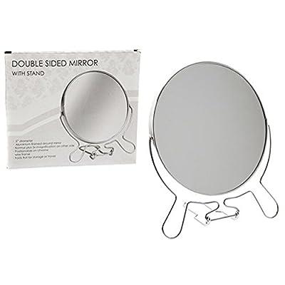 """5"""" Chromed 2 Sided Round Shaving Mirror"""