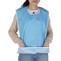 NUOLUX Babero para personas mayores, protector impermeable con atrapamigajas