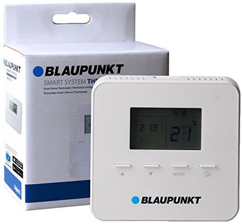 Blaupunkt Smart Home Thermostat TMST-S1 I Zubehör für die Q-Serie von Blaupunkt I Für Fußbodenheizung I Automatisierung der Heizung per APP, PC I Hausautomation I 1 Stück I Weiß