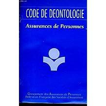 Code de deontologie assurances de personnes