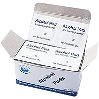 Preisvergleich für TiooDre Tragbare 100 stücke Alkohol Pads Sterilisation Tupfer Tücher für Desinfektion Verwenden Outdoor Indoor