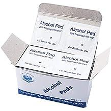 TiooDre Portable 100pcs Almohadillas de alcohol Esterilización hisopos Toallitas para la desinfección Uso al ...