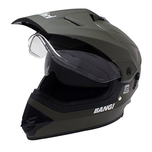 Steelbird Premium 195759-549 Motocross Helmet with Double Visor (Green, L)