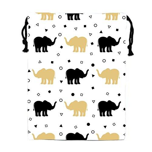 STBESY Concept Geometrie Kordelzug Wasserdicht Partyzubehör Tasche Tasche für Frauen Herren M Shadow of Elephants6