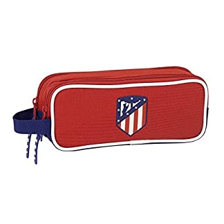 Safta Estuche Atlético De Madrid «Coraje» Oficial Escolar 210x60x80mm