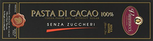 Vannucci Tavolette di Pasta di Cacao 100%, senza Glutine e senza Zuccheri - 100 gr
