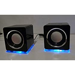 Design USB Lautsprecher Boxen in Schwarz
