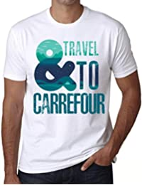 One in the City Hombre Camiseta Vintage T-Shirt Gráfico and Travel To Carrefour Blanco