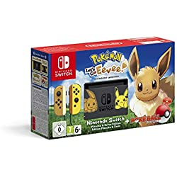 Nintendo Switch Pikachu & Evoli Edition + Pokémon: Let's Go, Evoli! + Poké Ball Plus