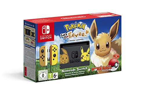 Nintendo Switch - Pokémon: Lets Go, Eevee! 6.2' 32Go WiFi Noir, Jaune Console de Jeux Portables Switch - Pokémon: Lets Go, Eevee Switch, PSP CPU, 768 MHz, 400 Mo, Noir