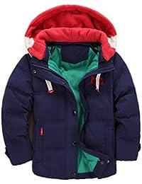 e5dbc0a6d688 Enfant Doudoune à Capuche en Duvet de Canard Chaud d hiver Fille et Garçon  Veste