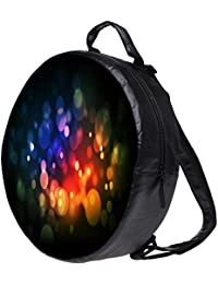 Snoogg Red And Blue Spots Bookbag Rounded Backpack Boys Girls Junior School Bag PE Shoulder Bag Lunch Kids Luggage