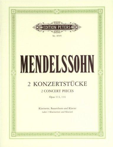 2 Konzertstucke Op.113, 114 Clarinettes-...