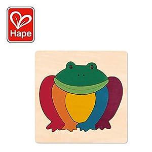 Hape- Puzzle encajable Infantil arcoíris Rana (Barrutoys E6503)