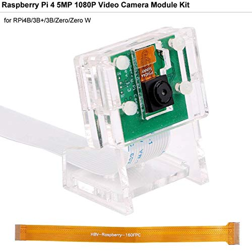 MakerHawk Raspberry Pi-Kamera 5MP Mini-Kamera-Videomodul 5 Megapixel 1080p / 30fps 65 Grad Blickwinkel für Raspberry Pi3B + / 3B / 2B + / 2B / Null/Null W, mit Acrylhalter und FFC-Flexkabel