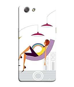 PrintVisa Designer Back Case Cover for Oppo Neo 5 :: Oppo A31 :: Oppo Neo 5S 2015 (Rich Girl Enjoying Her Life and Sleeping)