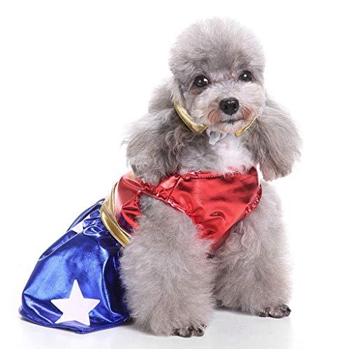 NYJ Haustier Kleidung, Weihnachtsgeschenk Katze Hund Adler Rock Set Kostüm Woolen Jacke Overall Welpen Kleidung (größe : XL)
