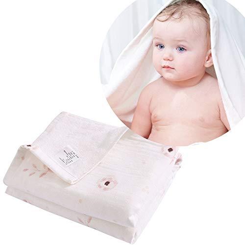 i-baby Baby Duschtuch Großes Badetuch Kinder Kleinkind Badetücher 90x90 cm Saugfähiges Bambusbaumwolle Musselin