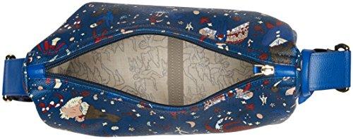 piero guidi 214914038, Borsa a Tracolla Donna, 30x25x12 cm Blu (Bluette)