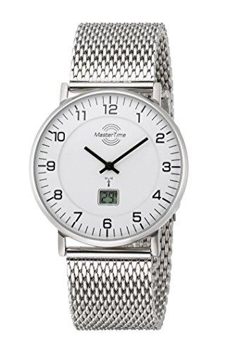 Master Time Funk Quarz Herren Uhr Analog-Digital mit Edelstahl Armband MTGS-10558-12M
