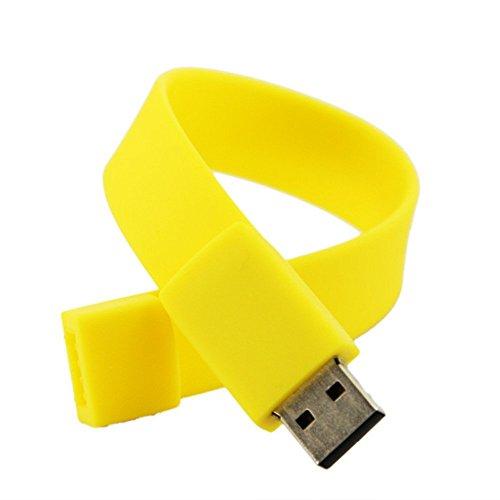 Dispositivo de memoria - TOOGOO(R)Pulsera de silicona de moda USB 2.0