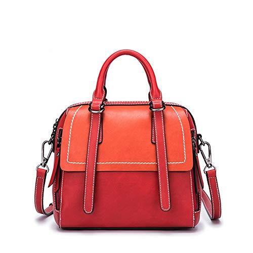 Cactus Querreißverschluß-Retro- Reine Farbenfrauen Handtasche Handtasche Der Retro- Handtasche Art und Weise Wilde Schulter, rot, 22 * 13 * 21 cm