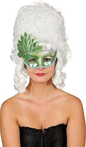 Damen-Kostüm, Grün, Wald, Nymphe, Halbes Gesicht Bal, Maske, Fasching, Karneval Outfit Zubehör Maske Augen (Wald Nymphe Kostüm)