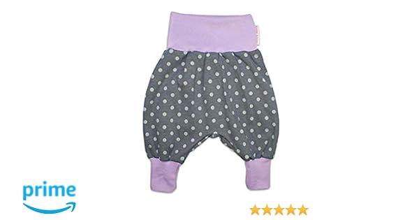 Kleine K/önige Pumphose Baby M/ädchen Hose /· Modell P/ünktchen grau Flieder /· /Ökotex 100 Zertifiziert /· Gr/ö/ßen 50-128