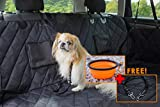 Furry Good Life Dog Hammock Car Seat Cover | Heavy Duty & Waterproof Material | Large Backseat Cover with Nonslip Backing | UK Brand - 2018 | Premium Cover for Cars Trucks & SUVs