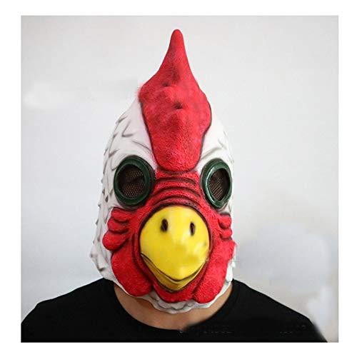 (SonMo Vogel Latex Maske Tierkopf Kostüm Zubehör für Karneval Halloween Cosplay)