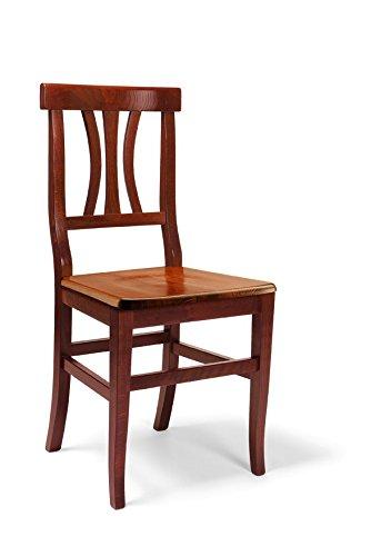 Lo scrigno arredamenti, sedia classica sedile legno sedie cucina sala soggiorno w594/nl