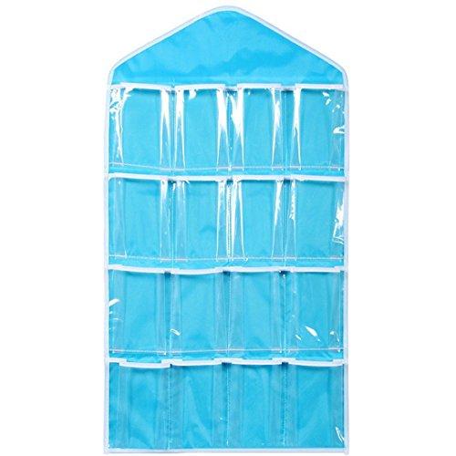 Bolsa transparente para colgar con 16bolsillos, para colgar en la puerta, zapatero para colgar ropa...