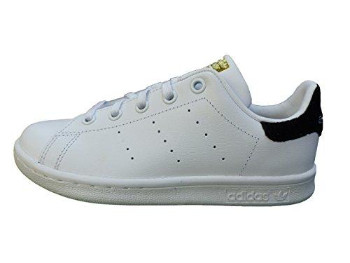 adidas Stan Smith C, Chaussures de sport mixte enfant - blanc - Blanc (Ftwbla / Ftwbla / Negbas), 33 EU