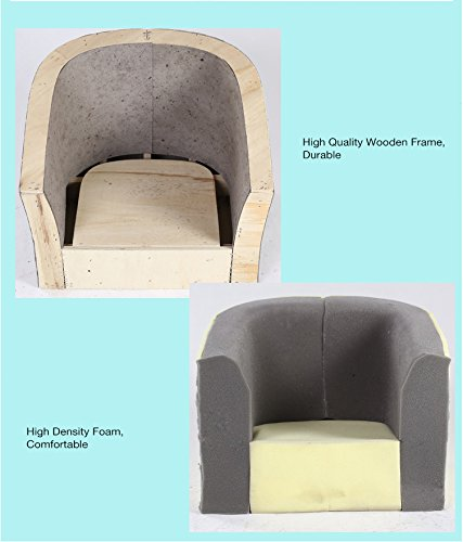 Emall Life Kid's Luxury Armchair Children's Tub Chair Cartoon Sofa Wooden Frame (Animals) Emall Life Beautiful cartoon fabric, easy to coordinate; Strong wooden frame, for durability High density foam, for added comfort; Sturdy legs, for a real furniture look Chair size: W50 x D41 x H43 cm; Recommended age: 2-4 years old 9