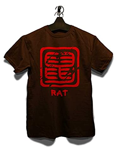 Chinese Signs Rat T-Shirt braun-brown 2XL
