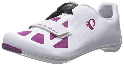 Pearl Izumi W Race Road IV, Zapatillas de Ciclismo de Carretera para Mujer, Blanco (Blanco/Morado), 38 EU